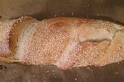 Frischkäsebrotstange mit Sesamkruste 1