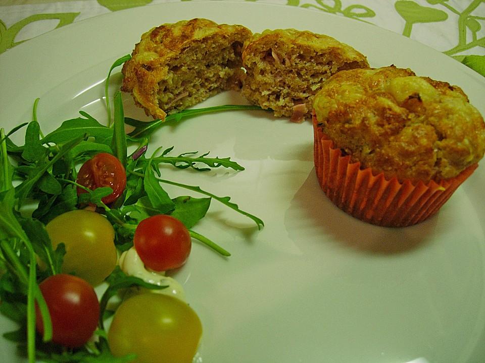 herzhafte muffins mit roter zwiebel cheddar und kochschinken von mmemaxine. Black Bedroom Furniture Sets. Home Design Ideas