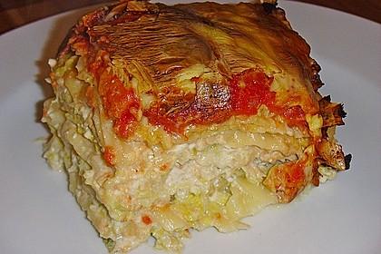 Lachs-Wirsing Lasagne