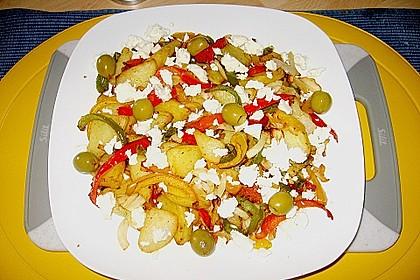 Kartoffel - Paprika Pfanne mit Schafskäse 2