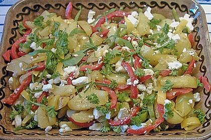Kartoffel - Paprika Pfanne mit Schafskäse 15