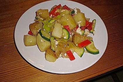 Kartoffel - Paprika Pfanne mit Schafskäse 5