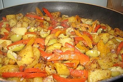 Kartoffel - Paprika Pfanne mit Schafskäse 14