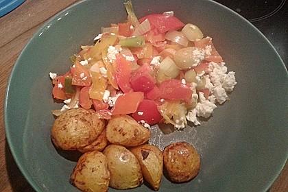 Kartoffel - Paprika Pfanne mit Schafskäse 4