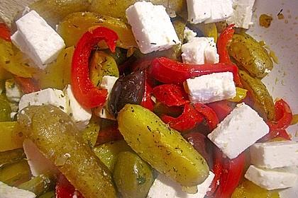 Kartoffel - Paprika Pfanne mit Schafskäse 12