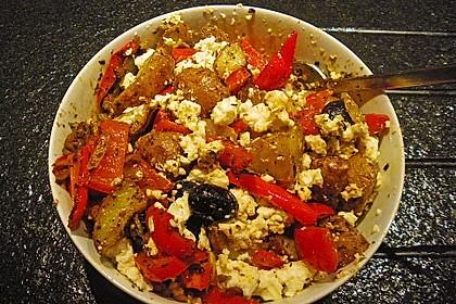 Kartoffel - Paprika Pfanne mit Schafskäse 13