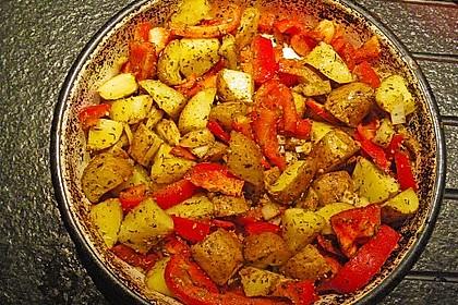 Kartoffel - Paprika Pfanne mit Schafskäse 6