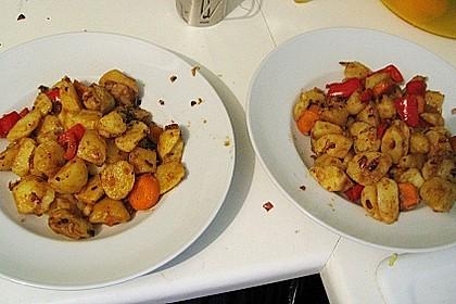 Kartoffel - Paprika Pfanne mit Schafskäse 17