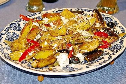 Kartoffel - Paprika Pfanne mit Schafskäse 1