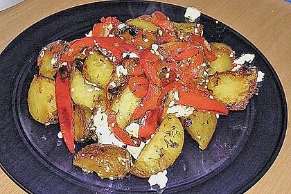 Kartoffel - Paprika Pfanne mit Schafskäse 3