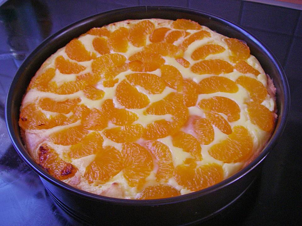Quarkkuchen Mit Mandarinen Ein Sehr Leckeres Rezept Chefkoch De