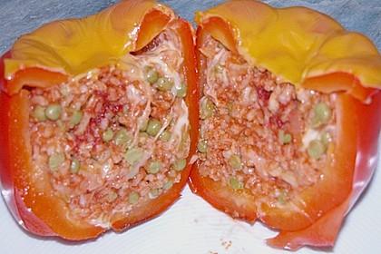 Gefüllte Paprika (ohne Fleisch)