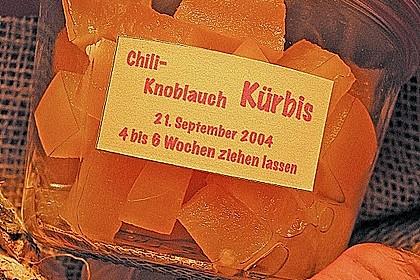 Kürbis mit Knoblauch - Chili eingelegt