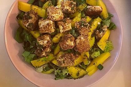Blattsalat mit Mango und Schafskäse 33
