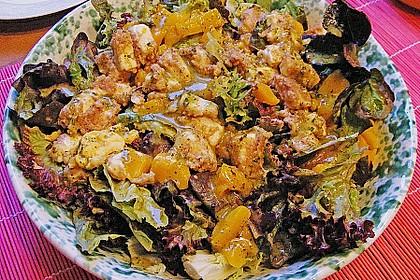 Blattsalat mit Mango und Schafskäse 29