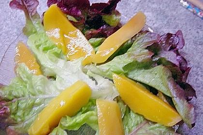 Blattsalat mit Mango und Schafskäse 58
