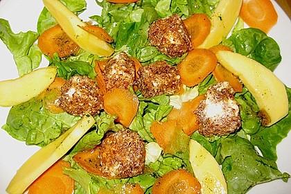 Blattsalat mit Mango und Schafskäse 12