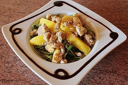 Blattsalat mit Mango und Schafskäse 23