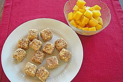 Blattsalat mit Mango und Schafskäse 41