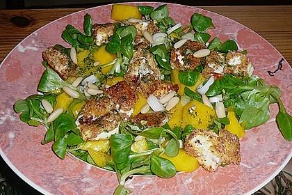 Blattsalat mit Mango und Schafskäse 26