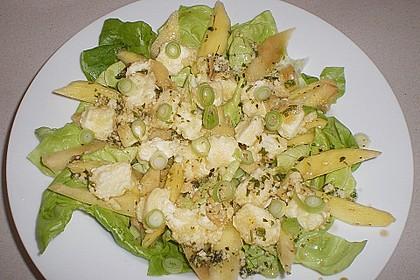 Blattsalat mit Mango und Schafskäse 46