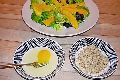 Blattsalat mit Mango und Schafskäse 25