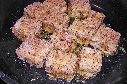 Blattsalat mit Mango und Schafskäse 45