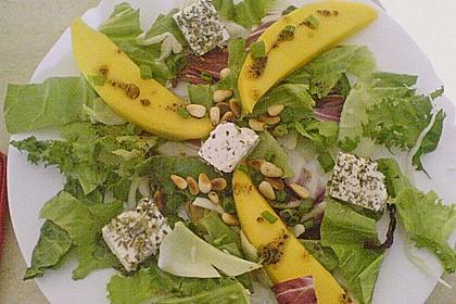 Blattsalat mit Mango und Schafskäse 51