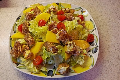 Blattsalat mit Mango und Schafskäse 18