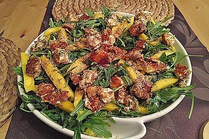 Blattsalat mit Mango und Schafskäse 42