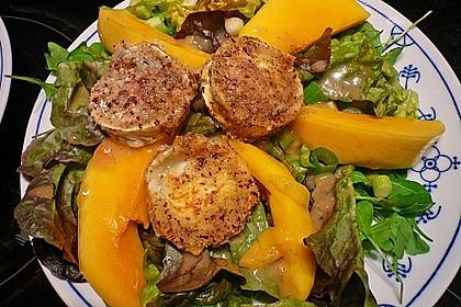 Blattsalat mit Mango und Schafskäse 1