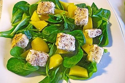 Blattsalat mit Mango und Schafskäse 19