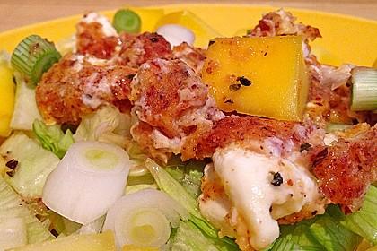Blattsalat mit Mango und Schafskäse 56