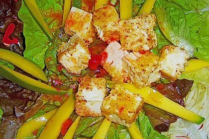 Blattsalat mit Mango und Schafskäse 27