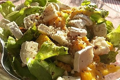 Blattsalat mit Mango und Schafskäse 34