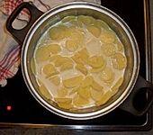Hackbraten auf Kartoffelgratin (Bild)