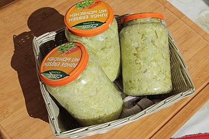 Sauerkraut in einem Glas selbst gemacht 25