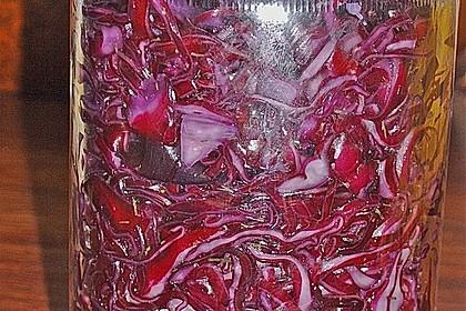 Sauerkraut in einem Glas selbst gemacht 10