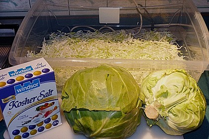 Sauerkraut in einem Glas selbst gemacht 45
