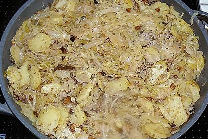 Sauerkraut in einem Glas selbst gemacht 23