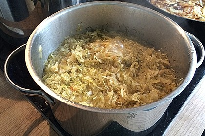 Sauerkraut in einem Glas selbst gemacht 11