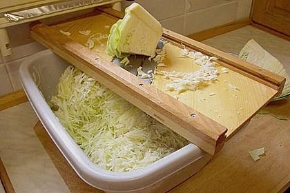 Sauerkraut in einem Glas selbst gemacht 1