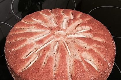 Einfacher versunkener Apfelkuchen 4