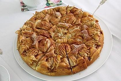 Einfacher versunkener Apfelkuchen 8
