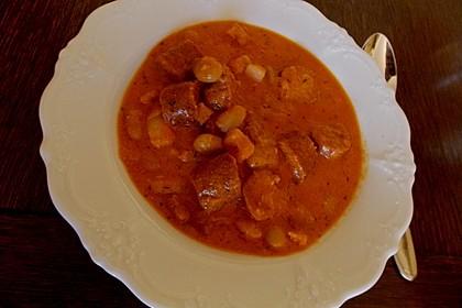 Scharfe Wurstsuppe