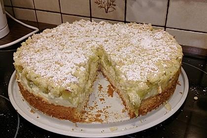 Rhabarberkuchen mit Vanillecreme und Streusel 40
