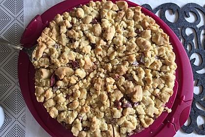 Rhabarberkuchen mit Vanillecreme und Streusel 4