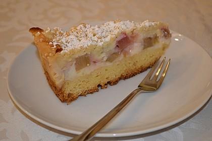 Rhabarberkuchen mit Vanillecreme und Streusel 52