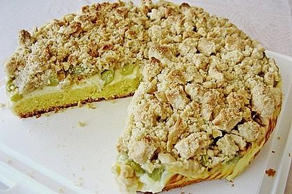 Rhabarberkuchen mit Vanillecreme und Streusel 133