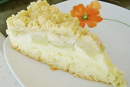 Rhabarberkuchen mit Vanillecreme und Streusel 139
